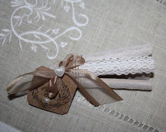 Set of three old clothespins scented