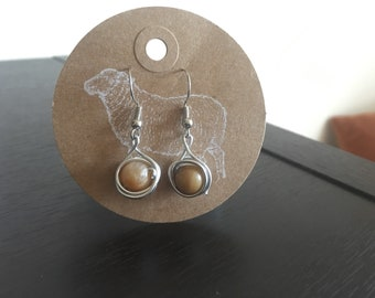 Wire wrapped boho earrings (earth)