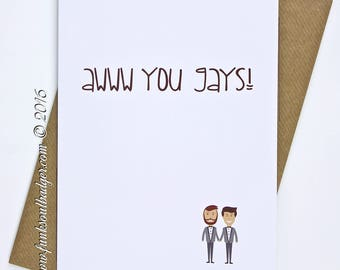 Gay Wedding Card Awww You Gays