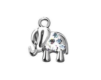 Charm Elephant (Swarovski elements) Silver 925