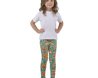 Chocolate Chip Cookie Ice Cream Sandwich Kid's leggings