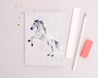 The Archer - Recycled Paper Notebook - Dotted pages - stationery - zodiac gift- sagittarius - horse illustration