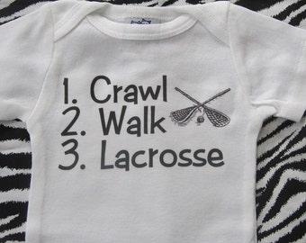 Lacrosse baby bodysuit, lacrosse baby one piece, lacrosse baby gifts, lacrosse baby clothing, lacrosse baby clothes, lacrosse baby outfit