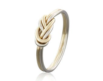 Alternative Engagement Ring - 14k Gold Climbing Knot Ring -  Gift for Rock Climbing Enthousiasts - Simple Promise Ring