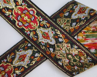 Opulent Medallion Woven Jacquard Trim 1&1/6 inches wide