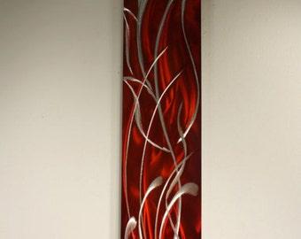 Wilmos Kovacs - Floral Painting on Metal, Wall Art Sculpture, Home Decor, Wall Decor, Handmade Sculpture, Original Art - W353
