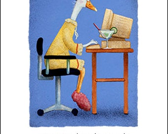 Will Bullas / art print / a mom, a monitor, and a margarita... / humor / animals