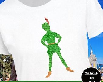 Peter Pan Tank, Peter Pan Shirt, Pan Tank, Pan Shirt, Neverland Shirt, Neverland Tank, Lost Boy Tank, Lost Boy Shirt, Pan Silhouette Shirt