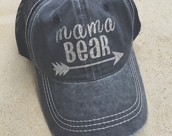 Mama Bear Hat, Trucker Hat, Mesh Back Hat, Mama Accessories, Gift