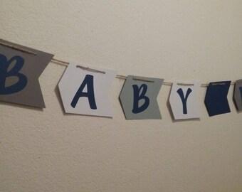 Tribal Baby Shower-Baby Boy Banner-Arrow Baby Banner