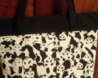 Black & white panda purse