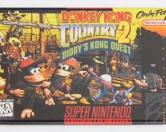 Donkey Kong Country 2 Video Game Box Fridge Magnet