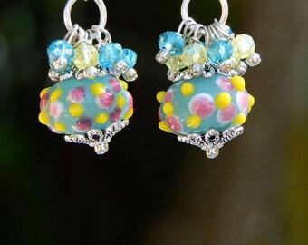 Candy Crunch Sterling Silver Drop Earrings by Lu Prince Jewelry