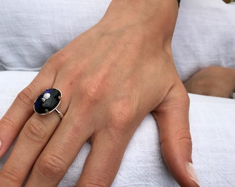 Midnight Blue PINEAPPLE ring