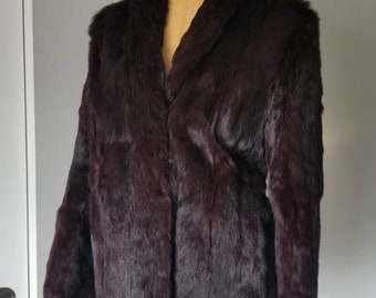 Vintage ox blood fur coat
