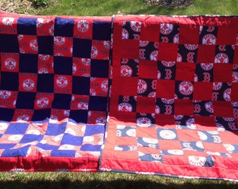 Red Sox Stroller quilt