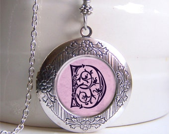 Locket, Personalized Monogram Locket, Monogram Necklace, Photo Locket