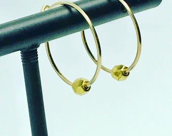 Earrings Creole rings faceted gold plated SOPHIA earrings