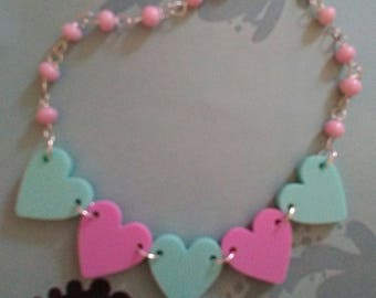 SALE Pastel love necklace