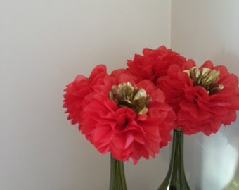 Special Offer - Set of 5 Tissue Paper Flowers - Weddings//Decoration//Receptions//Bridal//Nursery//Christmas
