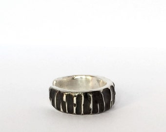Mr. ring made of silver, gift for men, syllable, ring silver ring blackened swiss made, man ring,