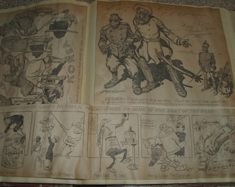 Political Cartoons from a Variety of Newspapers New York American Journal The Press Philadelphia etc 56 Cartoons Pasted in Binder 1903-1904