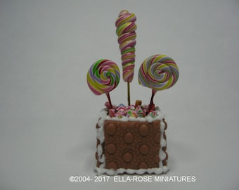 12th scale miniature handcrafted Gingerbread Candy Display