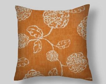 Cubierta de cojines naranja, marfil almohada, cojines, cojines decorativos florales, almohada naranja cubiertas de todos tamaños 18 x 18 20 decoración para el hogar,