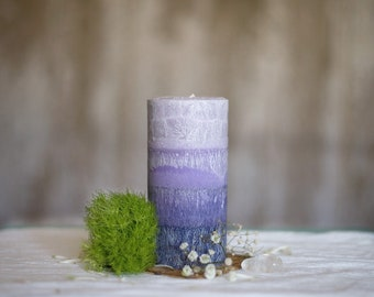 All Natural Palm Wax Pillar Candle (Lightly Scented)