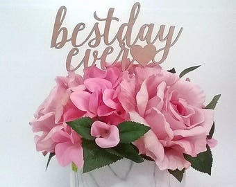 Personalised Cake Topper; best day ever cake topper; acrylic cake topper; wood cake topper; cake topper australia; cake toppers;