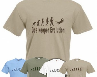 Evolution to Goalie t-shirt Funny Goal Keeper Football T-shirt sizes S TO 2XXL