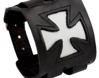 Cross leather cuff, Leather Jewelry, Cuff Bracelet, Leather Bracelet, Bracelet Men, Mens Jewelry, Leather Bracelet Men, Leather Cuff