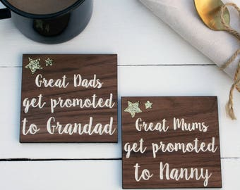 Wooden Grandparent Coaster