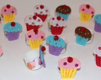 Cupcake Napkin Rings Set of 20
