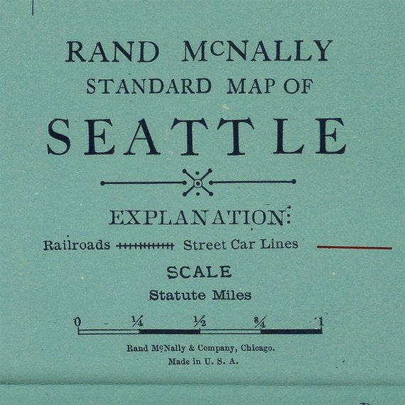 Map of Seattle WA 1924 Old Seattle map Large vintage map of