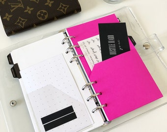 Hot Pink Planner Pocket- Personal Size