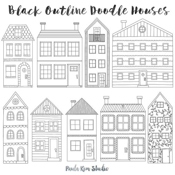 Paper model house outline. Paper model of a house with ...   House Paper Outline