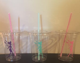 Fairy Party Cups, Fairytales Party, Girls, Birthday Cups (pink, purple, Mint)