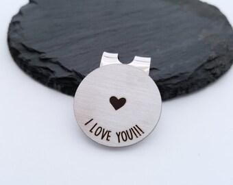 Personalized Golf Ball Marker - Custom Golf Ball Marker Stainless Steel Gift for Husband Gift for Boyfriend Guy gift Gift for Men