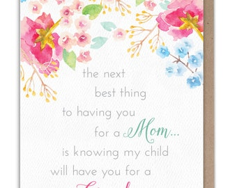 Best Mom, Best Grandma... Pregnancy Reveal Card for Mom - Mother's Day Card