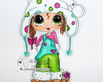 INSTANT DOWNLOAD Digital Digi Stamps Big Eye Big Head Dolls NEW Besties img699 My Besties By Sherri Baldy