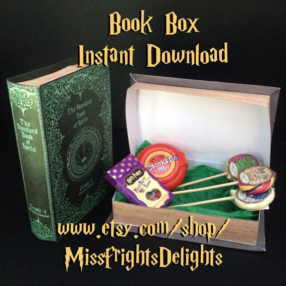 Harry Potter Book Grade Level : Standard book of spells grade box prop instant download