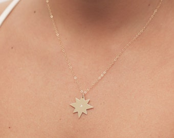 Gold Star Necklace, Dainty Gold Necklace, Layered Necklace, Delicate Gold Filled or Silver Necklace, Everyday Jewelry, Bridesmaid Gift.