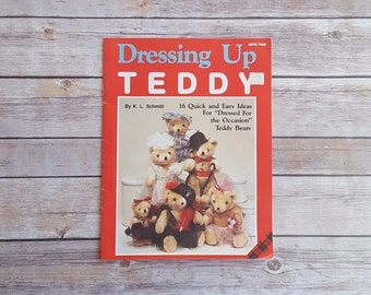 Doll Staging Teddy Bear Crafting Book Dressing Up Teddy Easy To Make Teddy Bear Clothes Teddy Bear Accessories DIY Dress Up Clothes For Doll