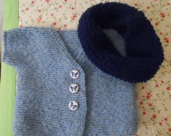 Baby Cardigan and a snood!