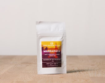 Marrakech Loose Leaf Tea Blend - Mint, Camomile, and Lemon Green Tea - 10g bag