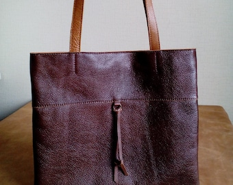 Brown Leather Tote Bag, Tote Bag, Leather Tote, Leather Tote Bag, Leather Work Tote,  Totes for Women.