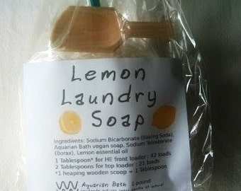 Lemon Laundry Soap - powdered laundry soap - plastic free
