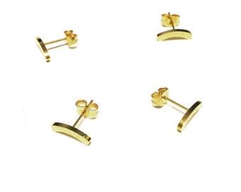 Believe Gold Mini Stud Earrings