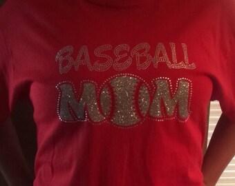 Sale!!!  Rhinestone baseball mom bling tshirt.